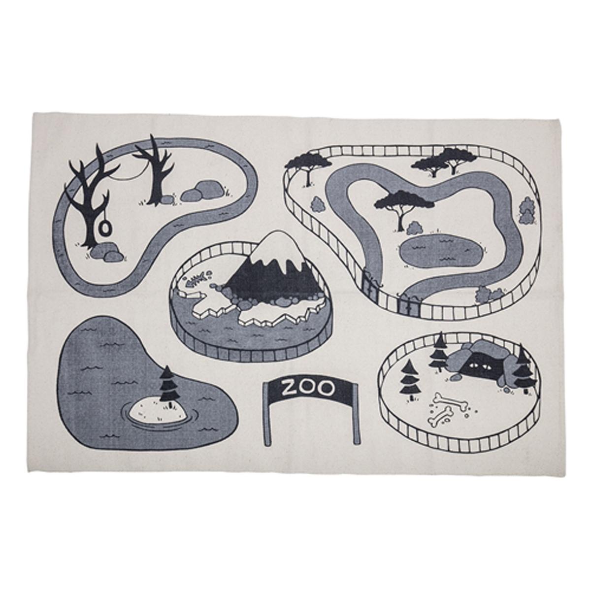 Tapis Tapis Circuit Zoo Gris - 100 x 150 cm Tapis Circuit Zoo Gris - 100 x 150 cm