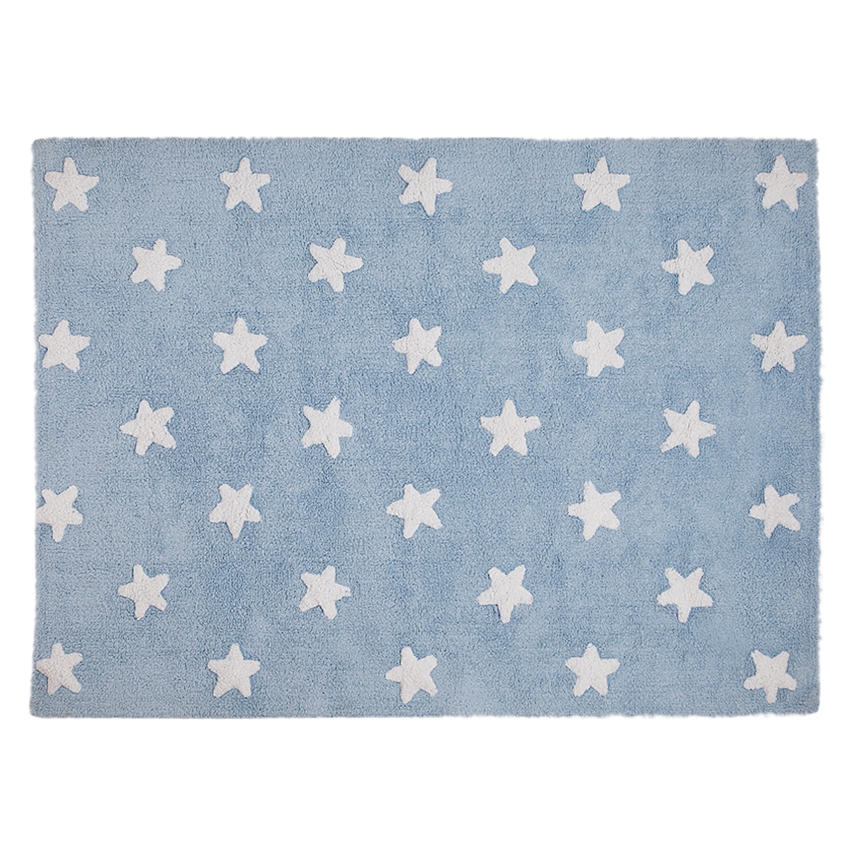 Lorena Canals Tapis Lavable Etoile - 120 x 160 cm - Bleu/Blanc ...