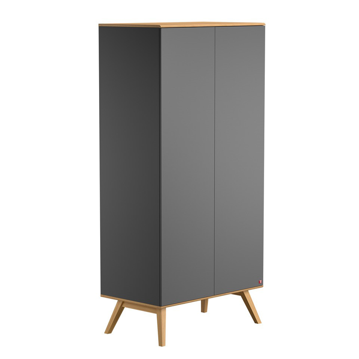 vox meubles armoire 2 portes nature gris armoire vox. Black Bedroom Furniture Sets. Home Design Ideas