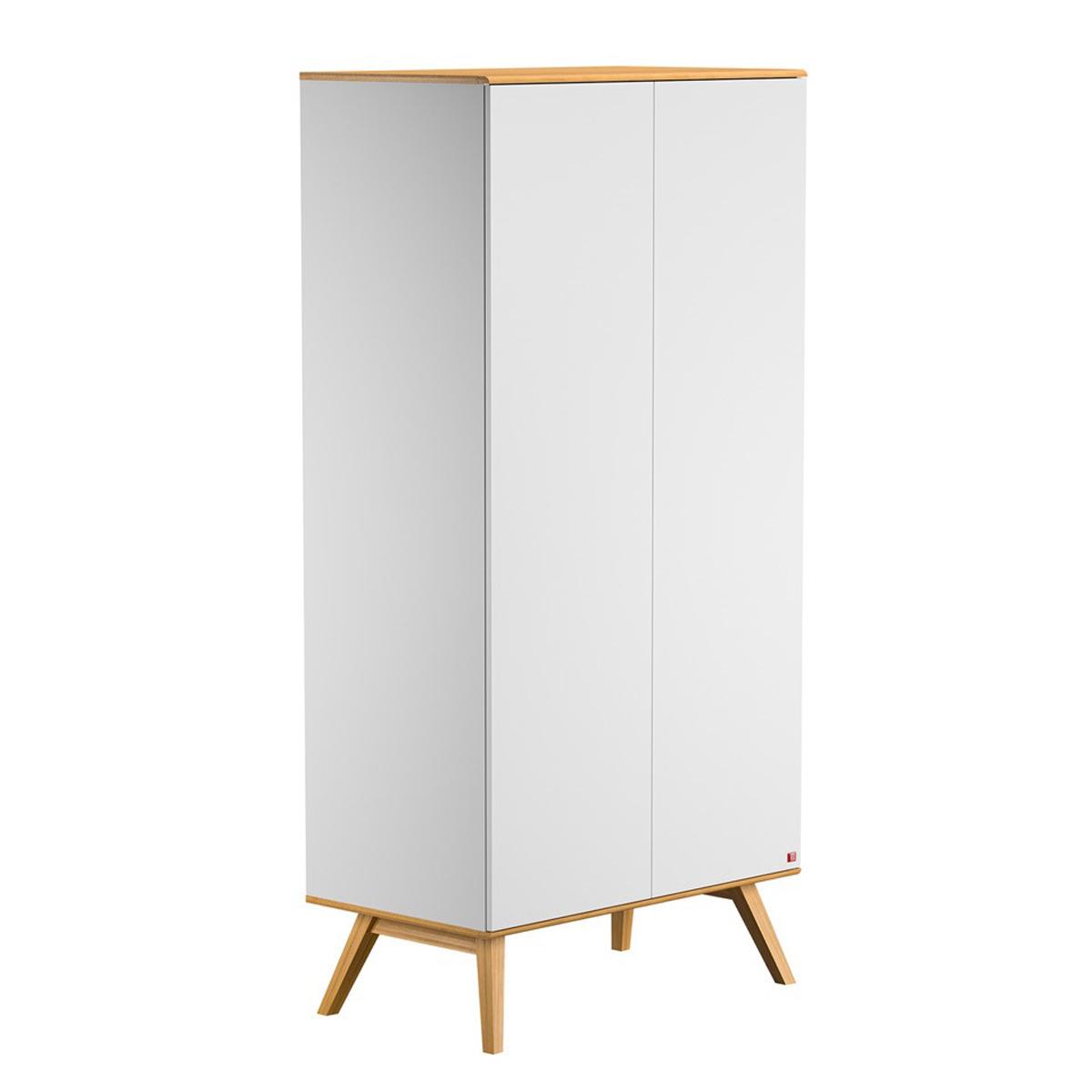 Vox meubles armoire 2 portes nature blanc armoire vox - L armoire de bebe ...