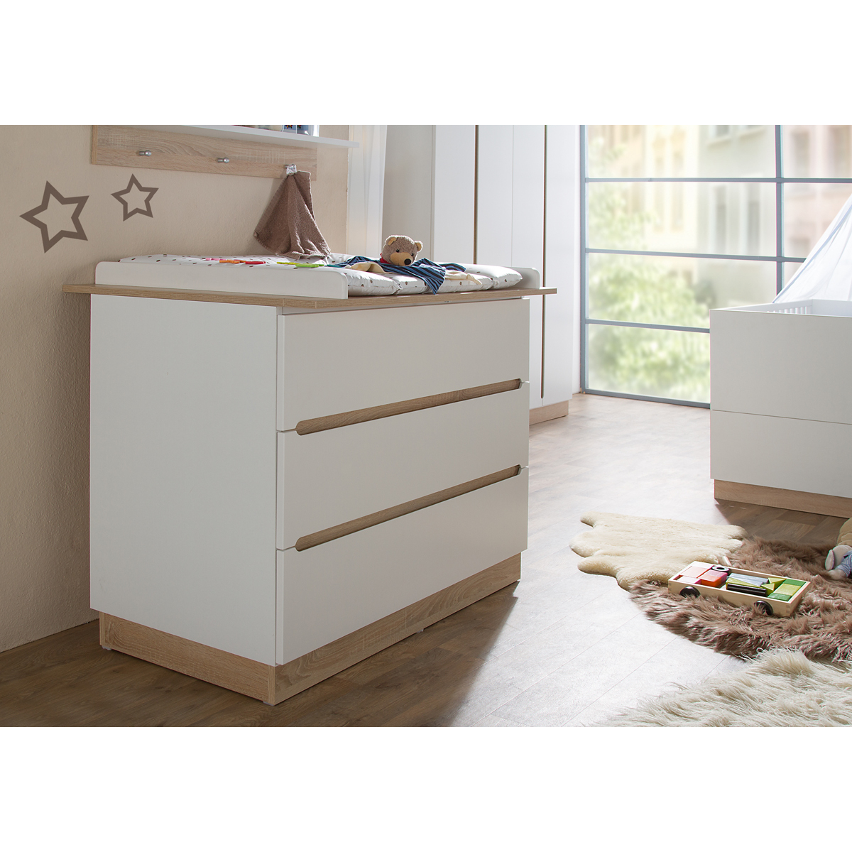 Geuther commode avec plan langer collection united - Plan a langer adaptable sur toute commode ...