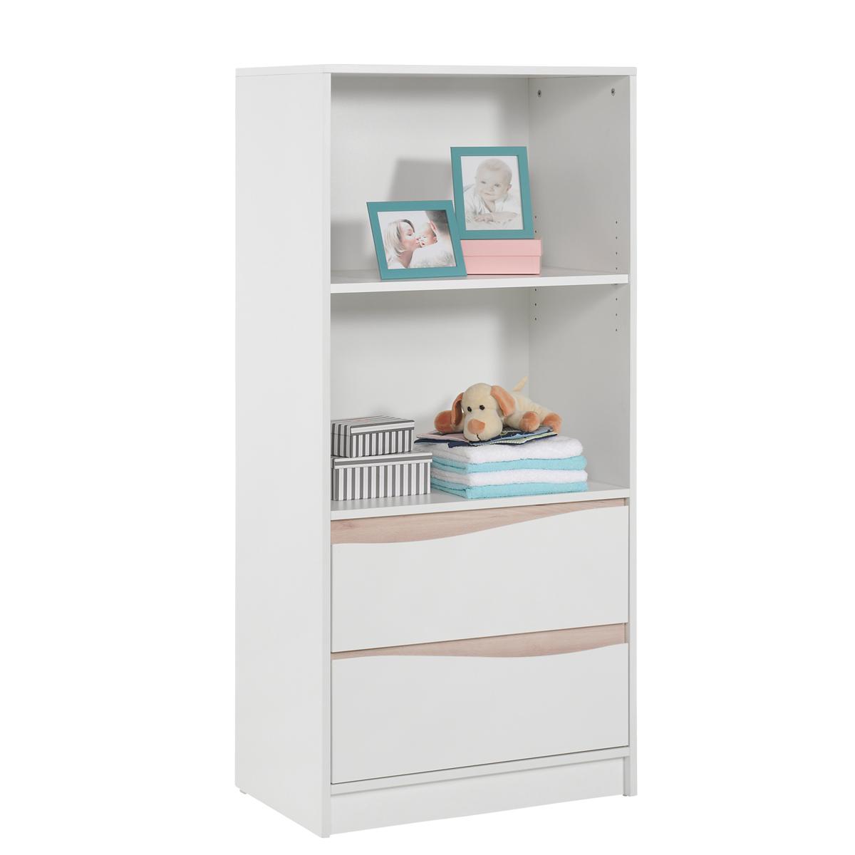 geuther chambre trio lit commode etag re haute collection wave blanc naturel chambre. Black Bedroom Furniture Sets. Home Design Ideas