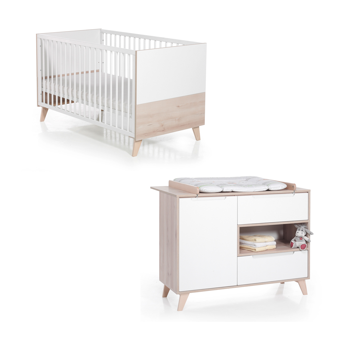Geuther Chambre Duo Lit & Commode - Collection Mette - Chambre ...