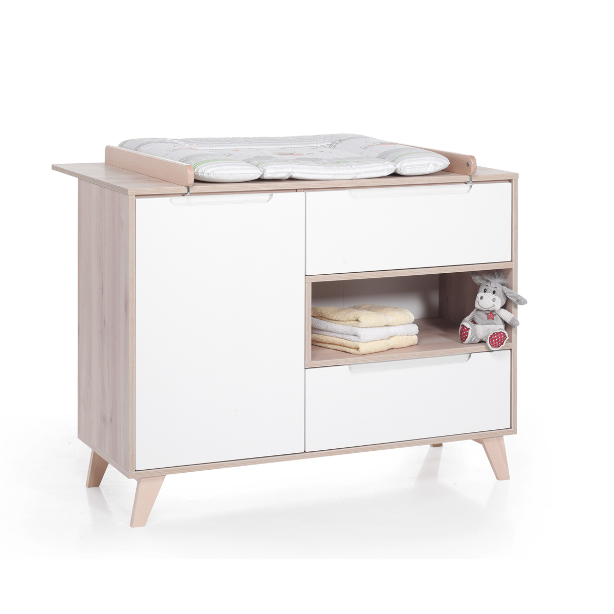 Geuther chambre trio lit commode tag re haute for Chambre haute