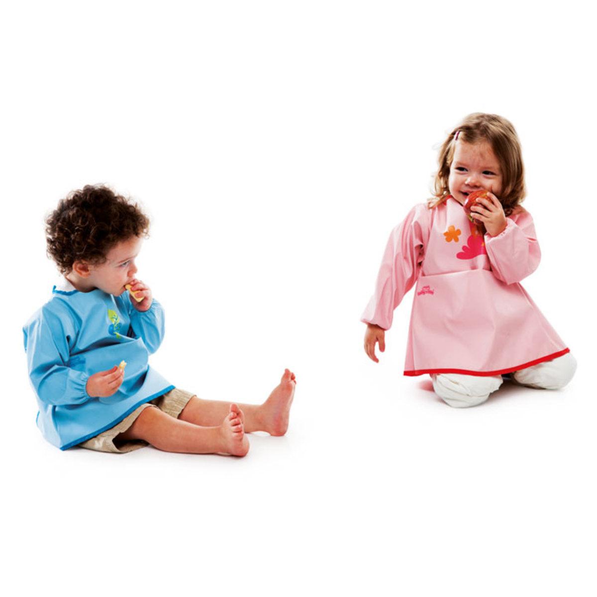 babytolove tablier bavoir bleu bavoir babytolove sur l 39 armoire de b b. Black Bedroom Furniture Sets. Home Design Ideas