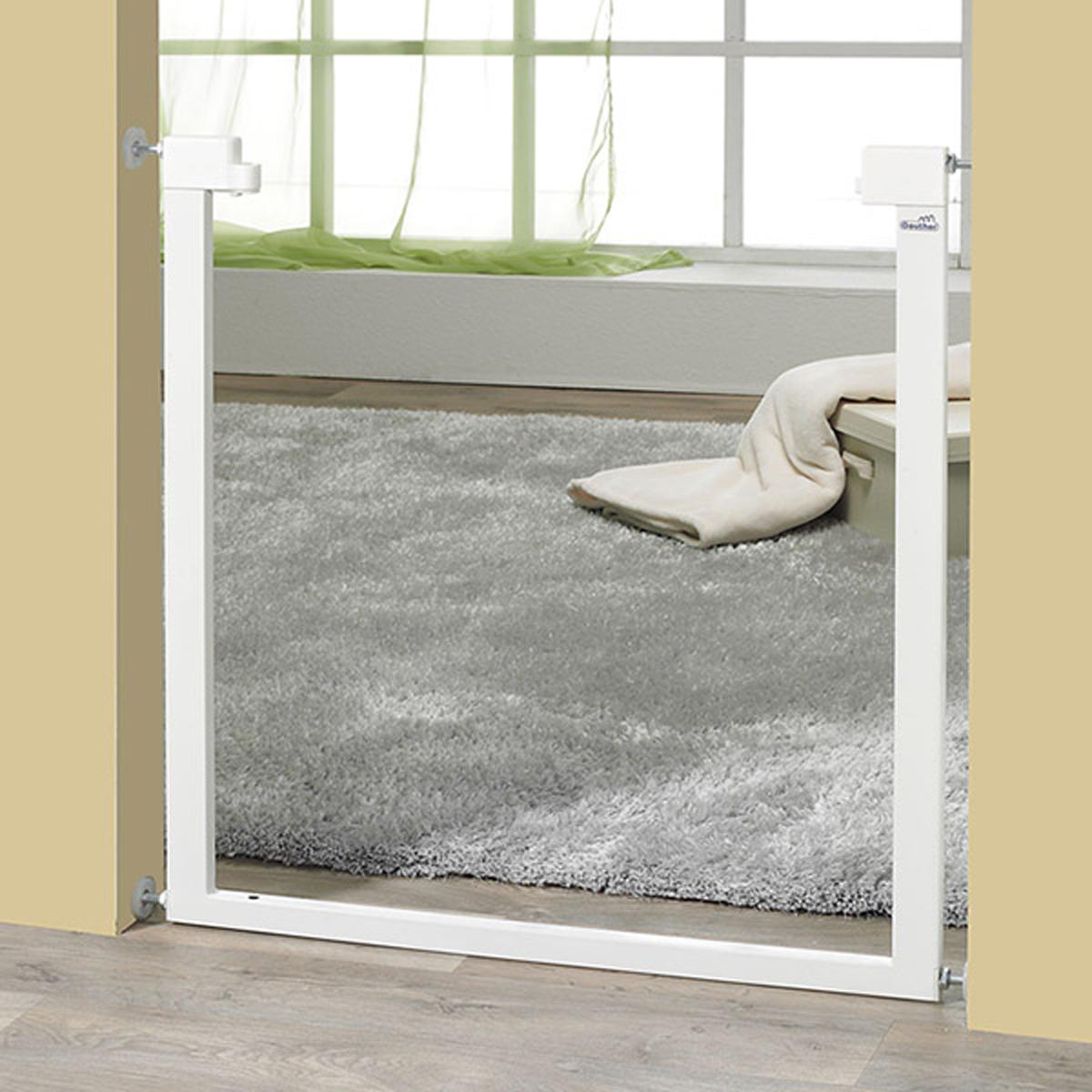 geuther barri re vario safe sans percer 74 5 82 5 cm naturel m tal barri re de. Black Bedroom Furniture Sets. Home Design Ideas