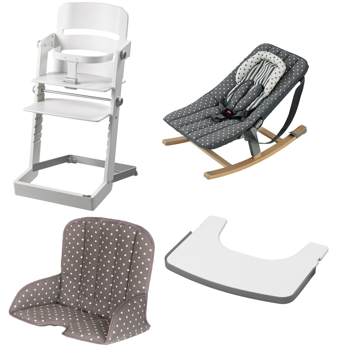 Geuther pack chaise haute tamino transat rocco tablette - Chaise evolutive geuther ...