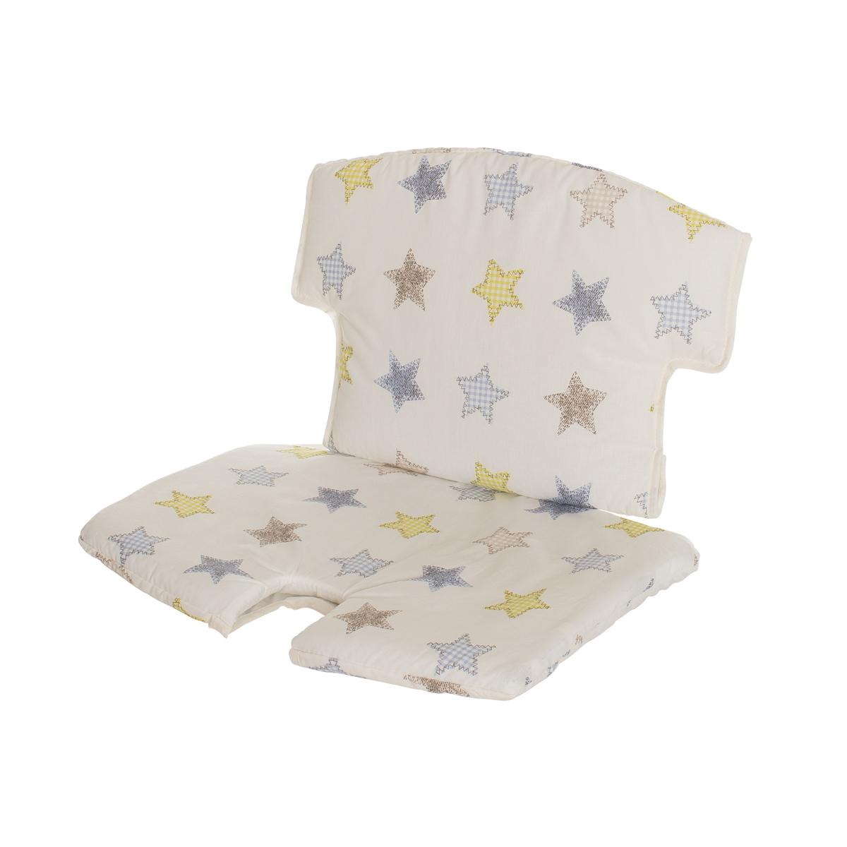 geuther ensemble chaise haute syt tablette coussin de chaise blanc etoiles chaise haute. Black Bedroom Furniture Sets. Home Design Ideas