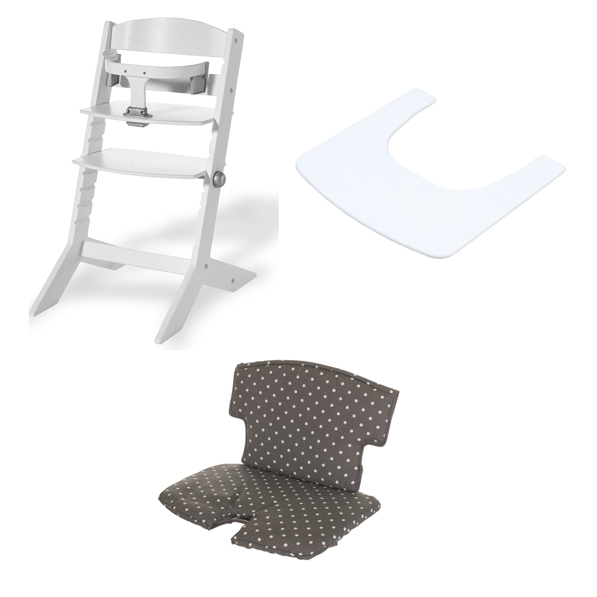 Blanc Haute Chaise Ensemble Blanc de Point Chaise SytTabletteCoussin dCBeoxr