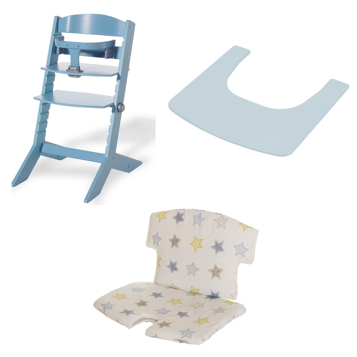 geuther chaise haute syt tablette et coussin de chaise bleu chaise haute geuther sur l. Black Bedroom Furniture Sets. Home Design Ideas