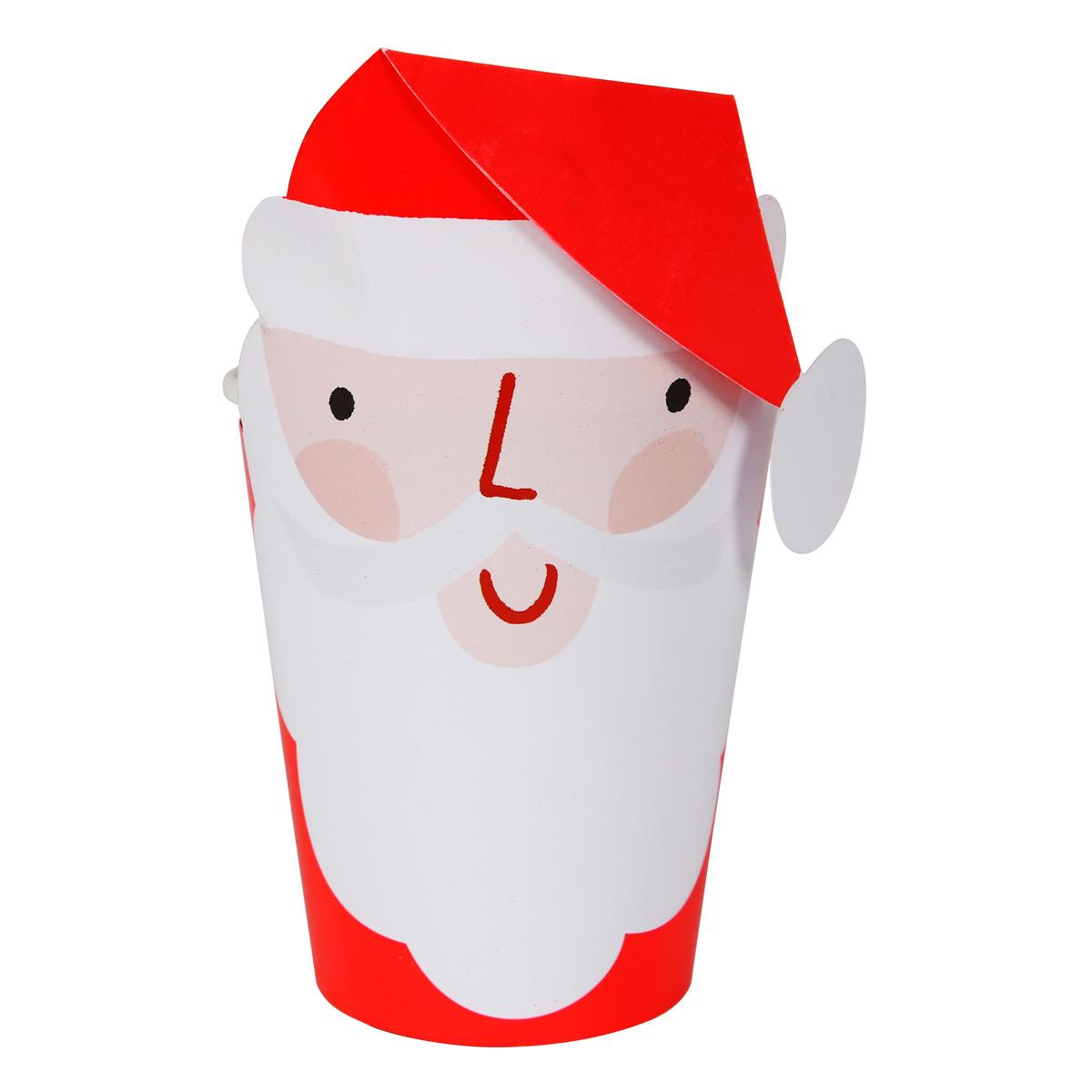 Anniversaire & Fête Lot de 8 Gobelets avec Étuis Père-Noël Lot de 8 Gobelets avec Étuis Père-Noël