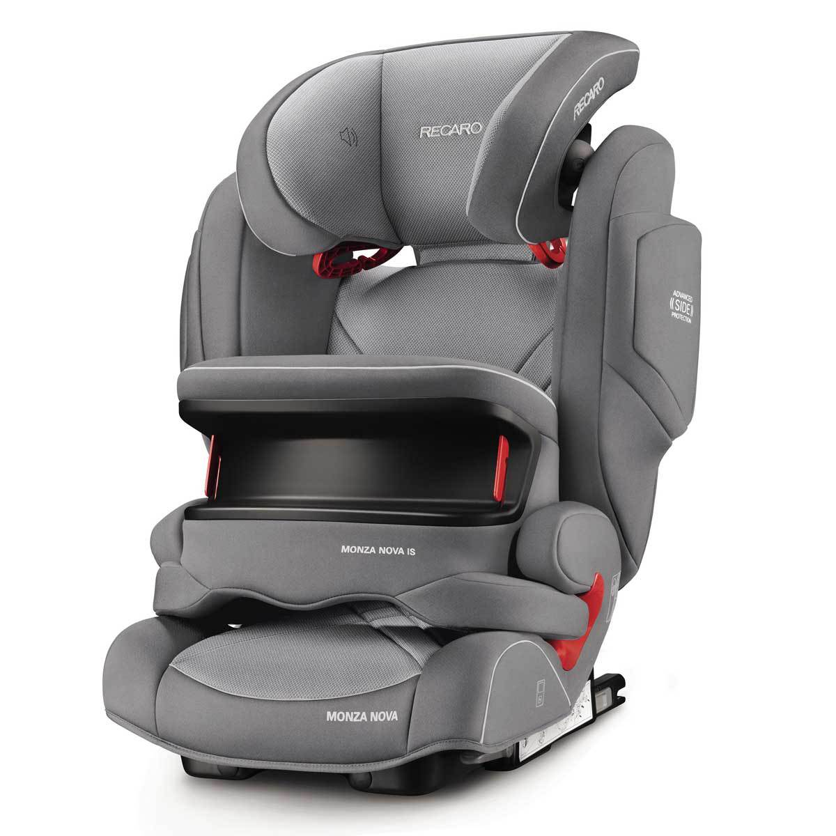 recaro si ge auto monza nova is seatfix isofix groupe 1 2 3 aluminium grey si ge auto et. Black Bedroom Furniture Sets. Home Design Ideas