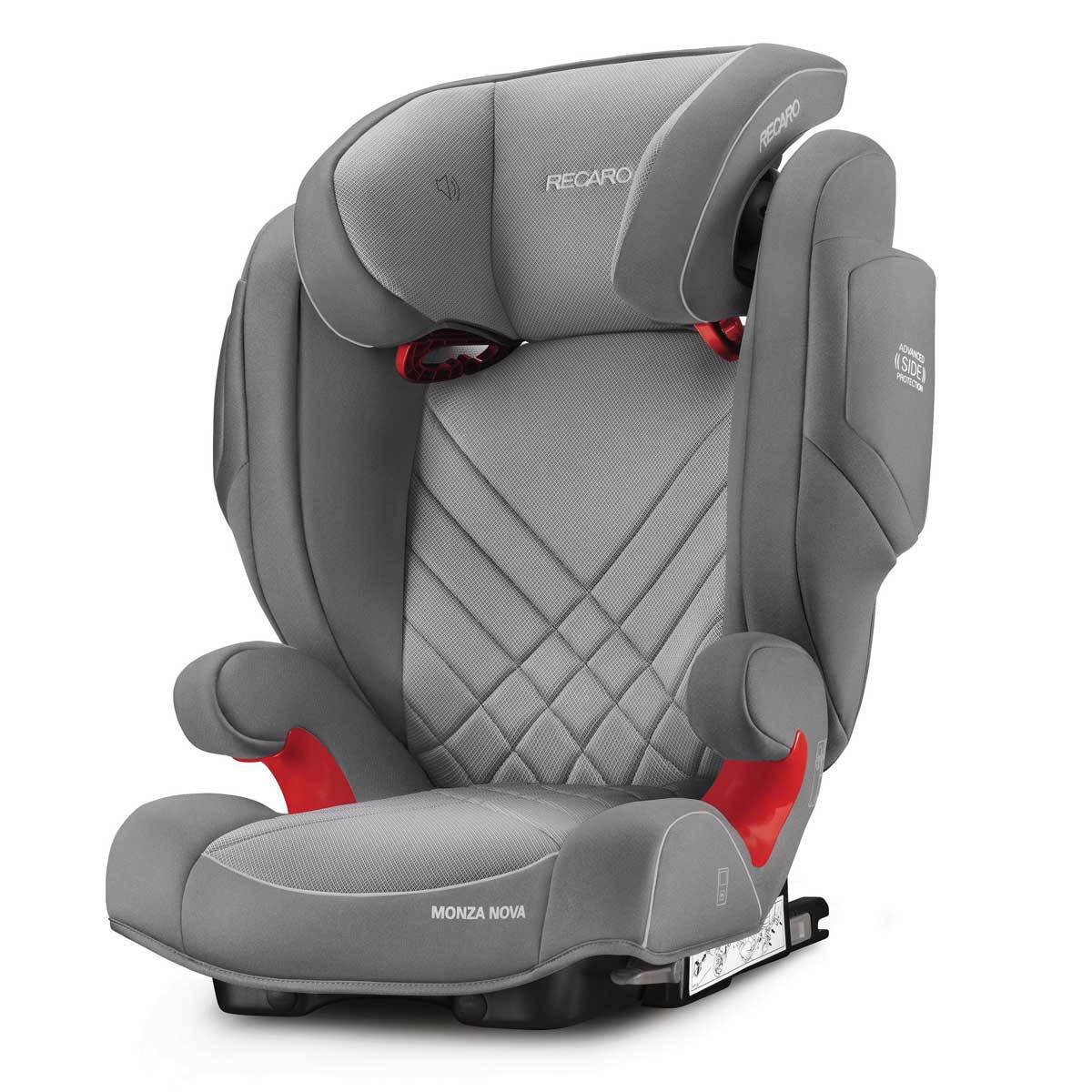 recaro si ge auto monza nova 2 seatfix isofix groupe 2 3 aluminium grey si ge auto et coque. Black Bedroom Furniture Sets. Home Design Ideas
