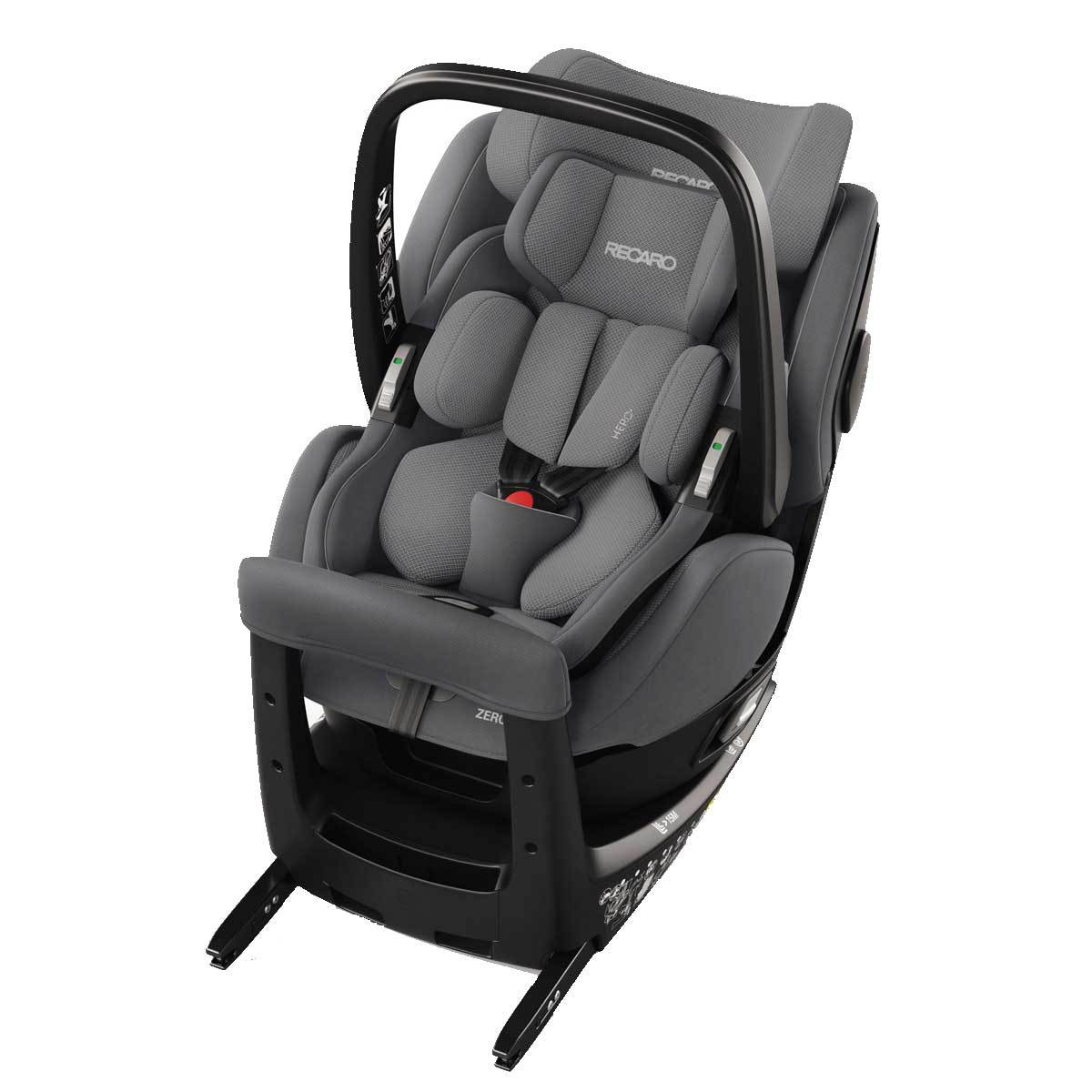 recaro si ge auto zero 1 elite i size groupe 0 1 aluminium grey si ge auto et coque recaro. Black Bedroom Furniture Sets. Home Design Ideas