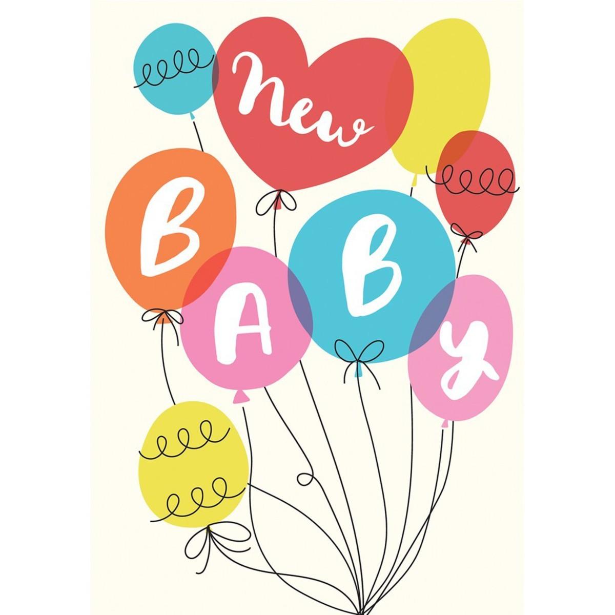 Anniversaire & Fête Carte de Naissance Party Balloons Carte de Naissance Party Balloons