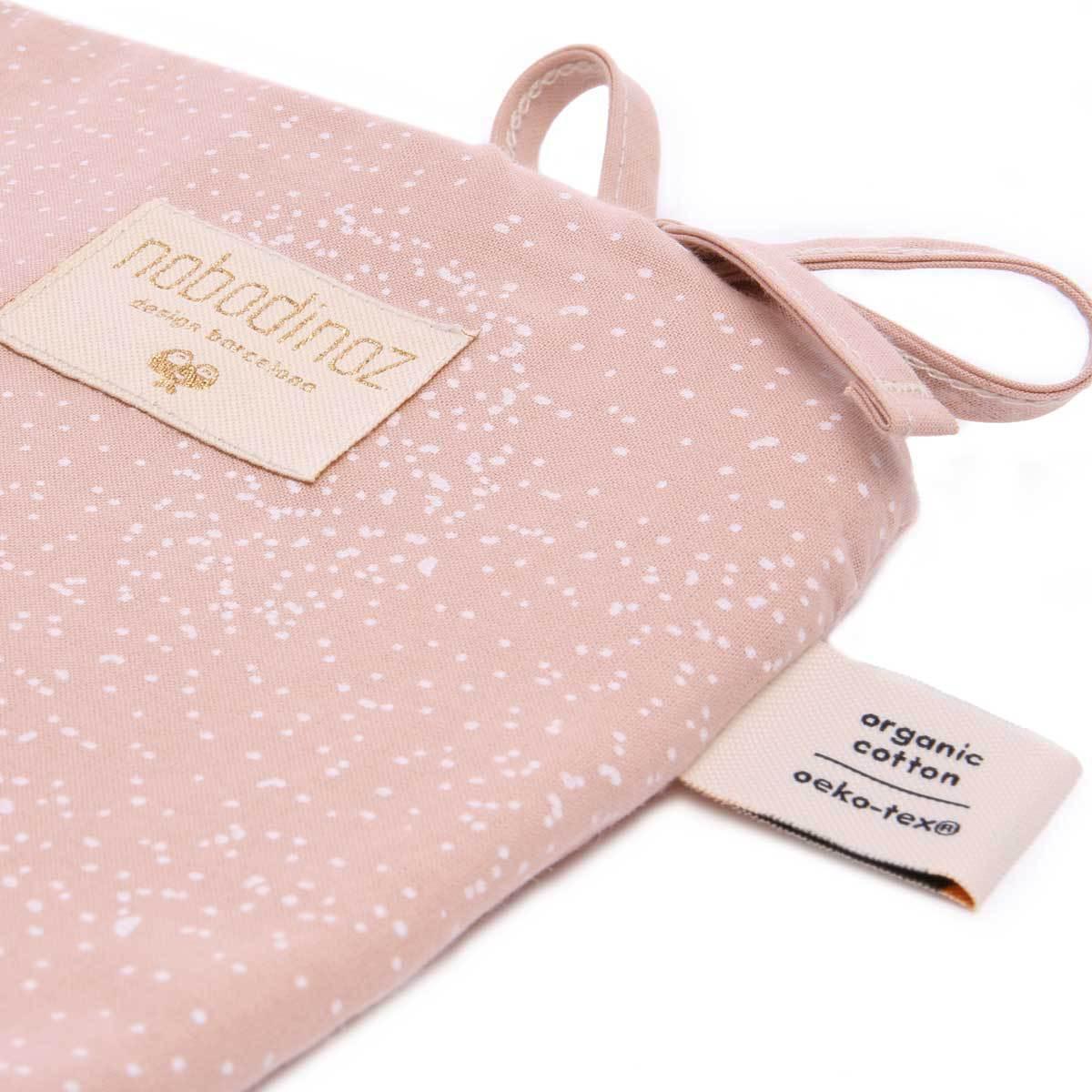 nobodinoz tour de lit white bubble misty pink linge de lit nobodinoz sur l 39 armoire de b b. Black Bedroom Furniture Sets. Home Design Ideas