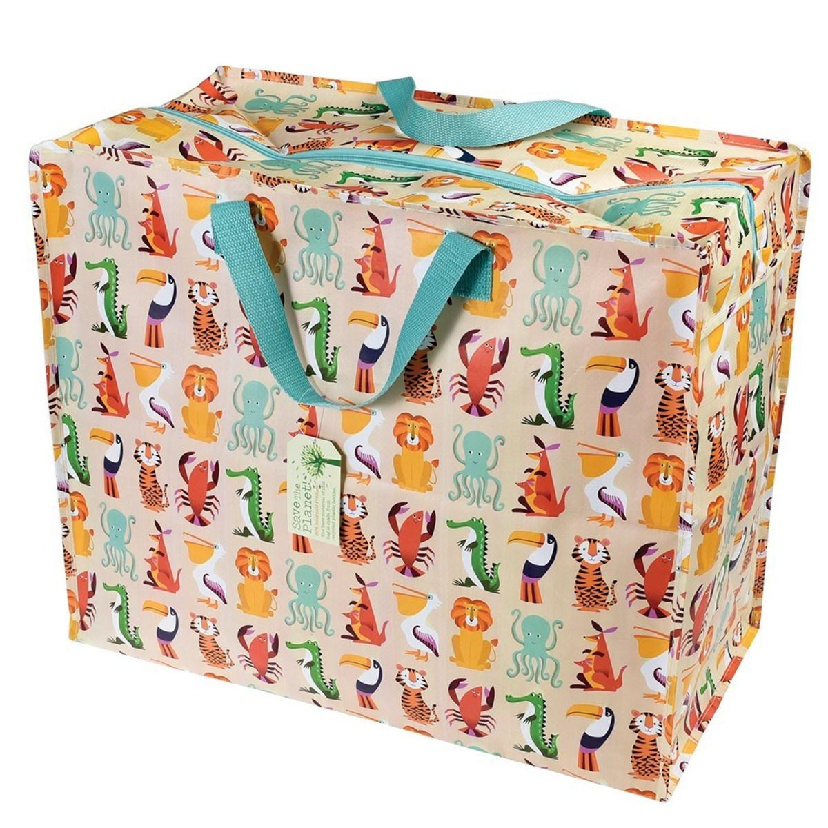 dotcomgiftshop sac de rangement recycl jumbo colourful creatures rangement jouet. Black Bedroom Furniture Sets. Home Design Ideas