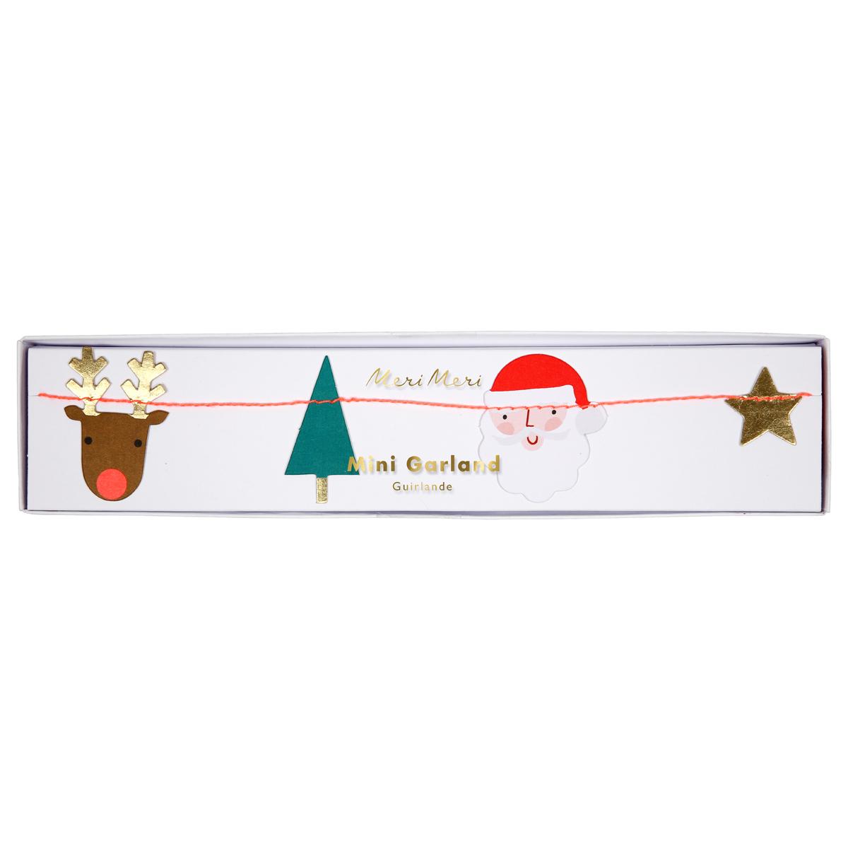 Anniversaire & Fête Mini Guirlande Icône de Noël Mini Guirlande Icône de Noël