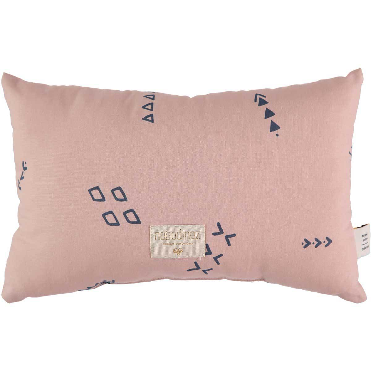 Coussin Petit Coussin Laurel - Blue Secrets & Misty Pink Petit Coussin Laurel - Blue Secrets & Misty Pink