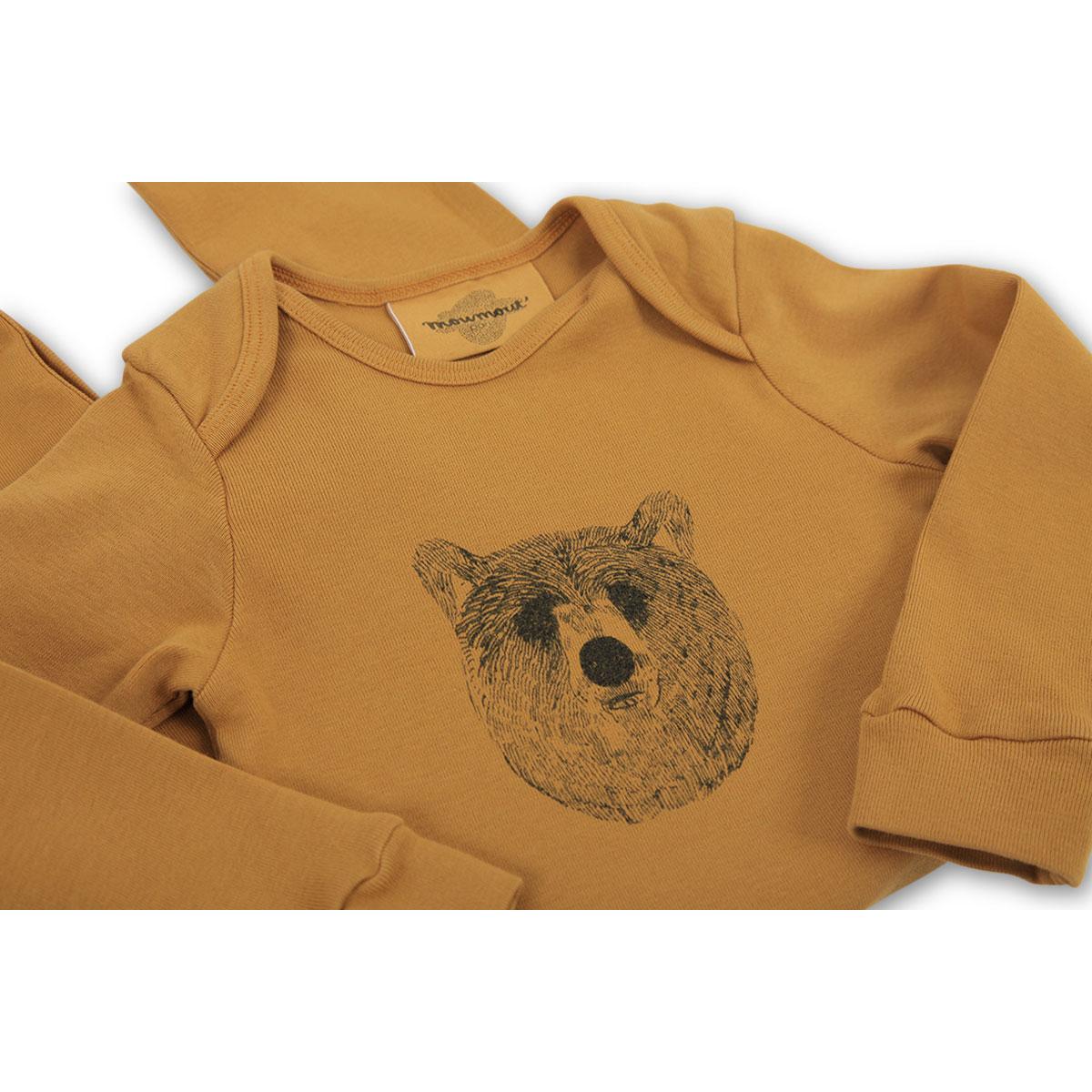 1b17314057858 Pyjama Bobo - Baloo   Moutarde - 3 Mois (BOBO-BALOO-MUSTARD-3M ...