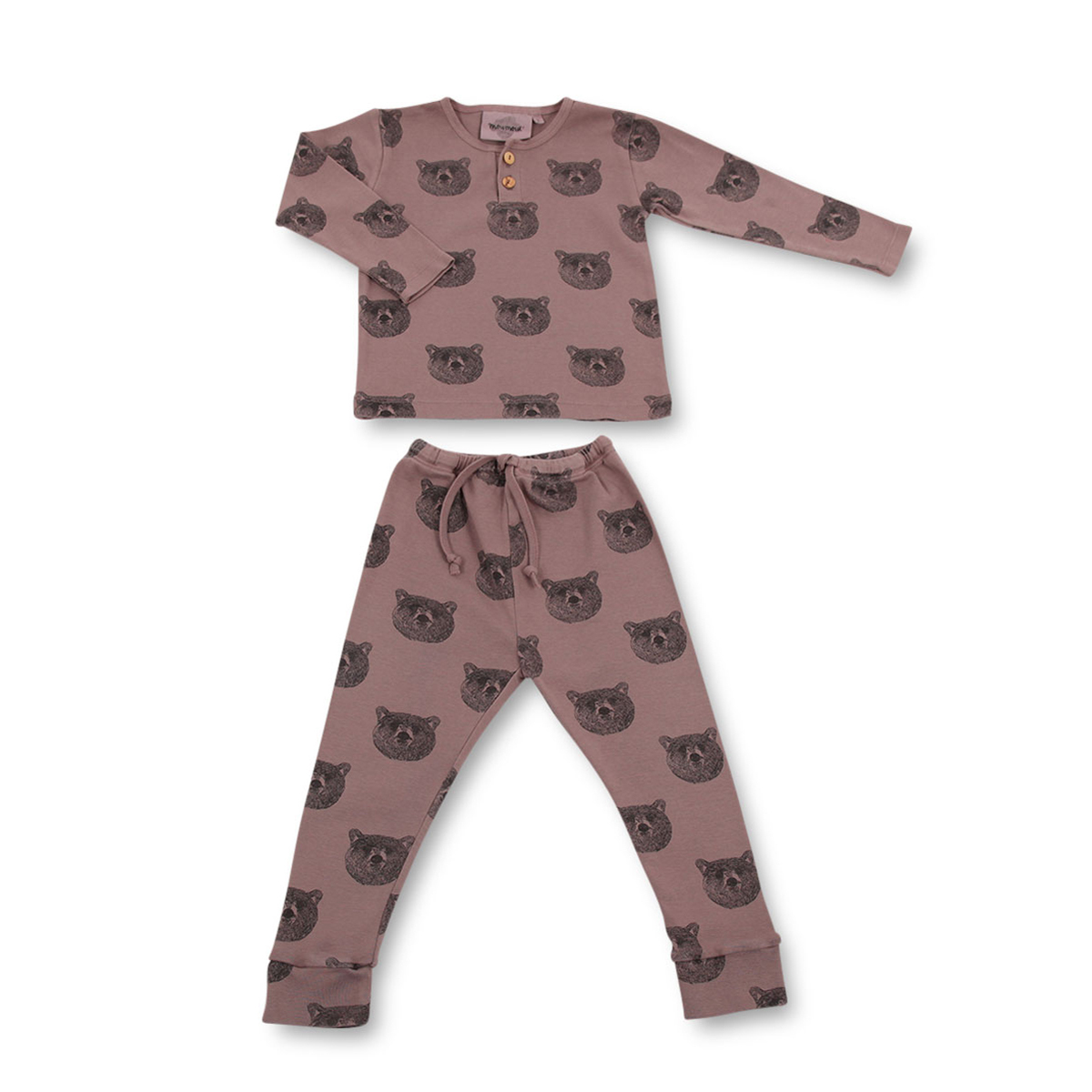 moumout pyjama o rs baloo taupe 2 ans body et. Black Bedroom Furniture Sets. Home Design Ideas