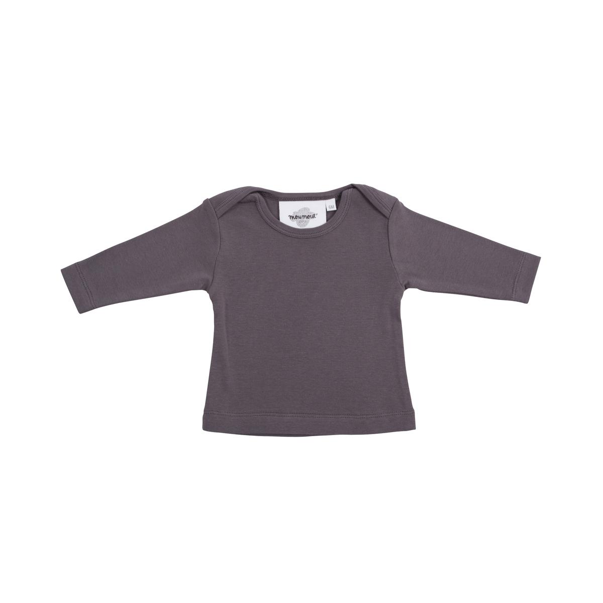 Hauts bébé T-Shirt Manches Longues Mü - Charbon - 3 Mois T-Shirt Manches Longues Mü - Charbon - 3 Mois