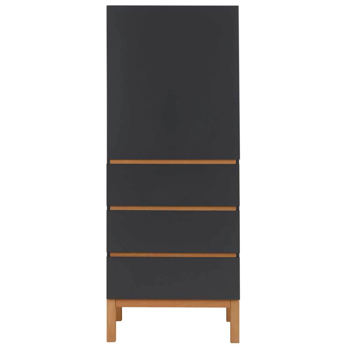 quax armoire 1 porte 3 tiroirs indigo moonshadow. Black Bedroom Furniture Sets. Home Design Ideas