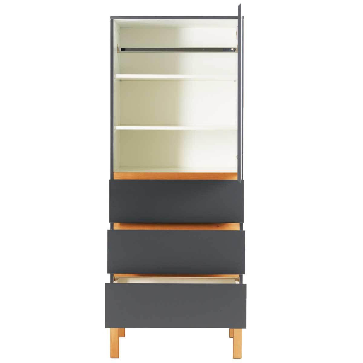 Quax armoire 1 porte 3 tiroirs indigo moonshadow - Armoire 1 porte enfant ...