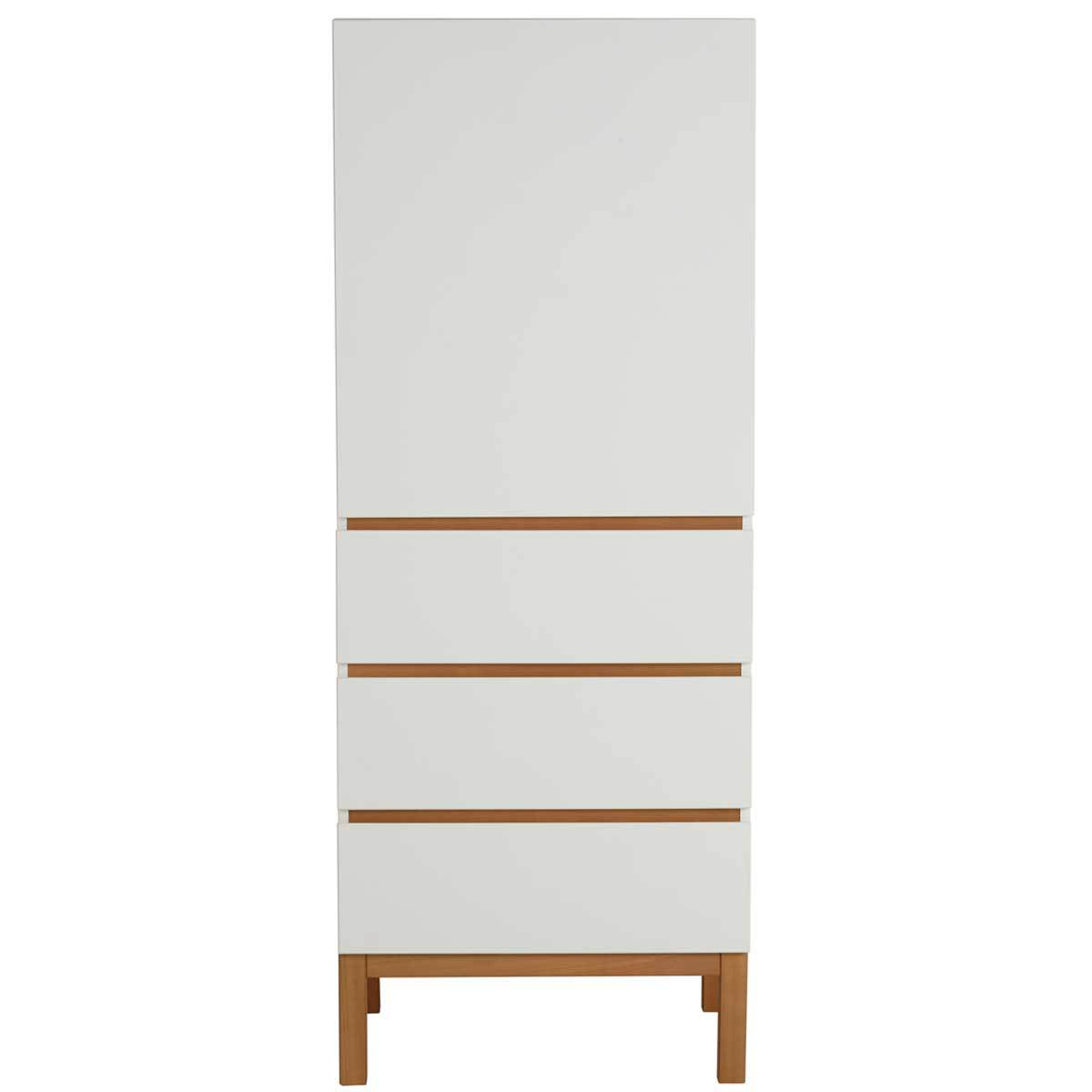 quax armoire 1 porte 3 tiroirs indigo blanc. Black Bedroom Furniture Sets. Home Design Ideas