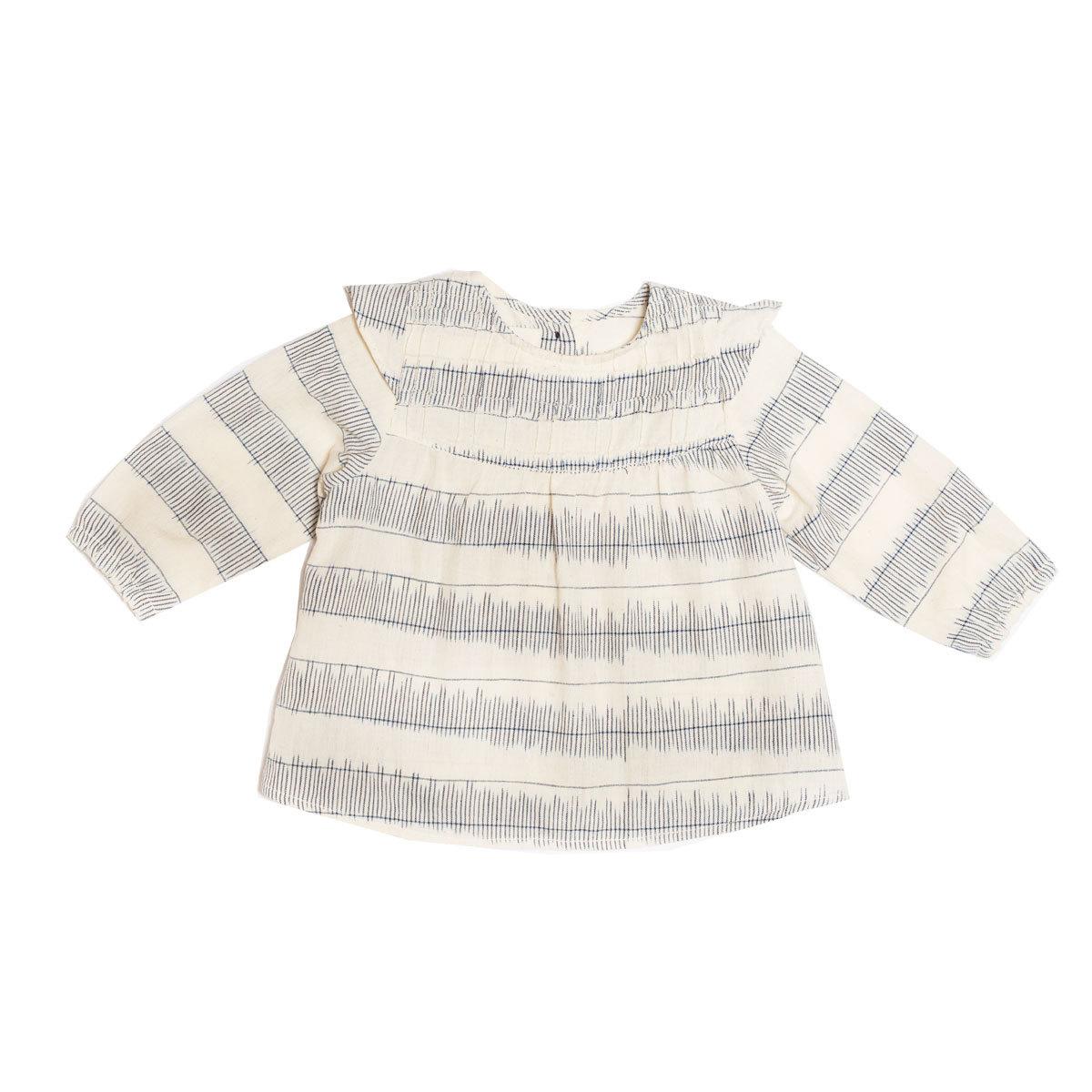 le petit lucas du tertre blouse louisa white stripped ikat 2 ans hauts b b le petit lucas. Black Bedroom Furniture Sets. Home Design Ideas