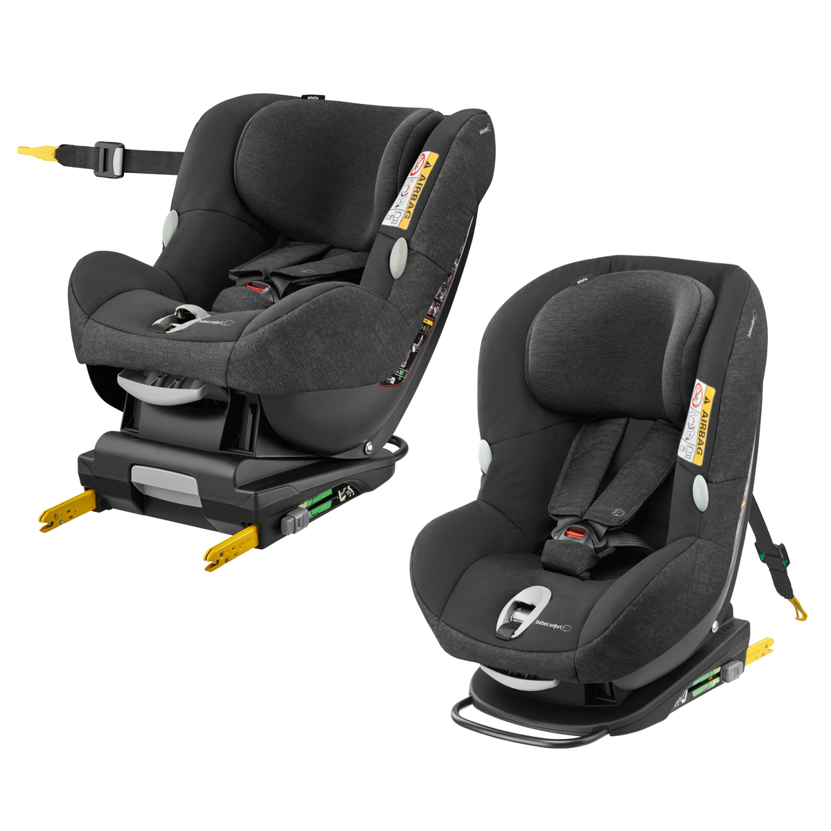 b b confort si ge auto milofix isofix groupe 0 1 nomad black si ge auto et coque b b. Black Bedroom Furniture Sets. Home Design Ideas