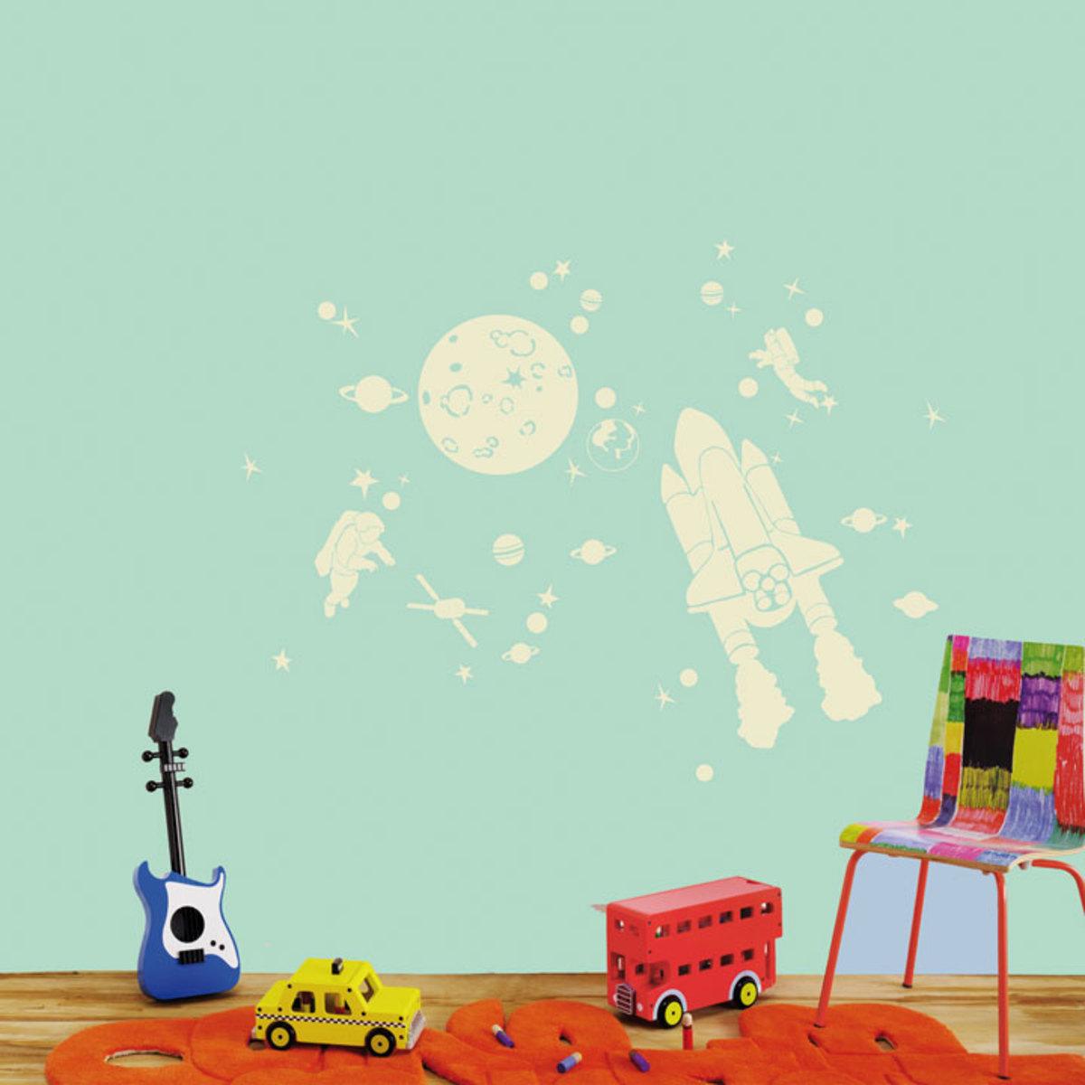 mimi 39 lou stickers phosphorescents space kit sticker mimi. Black Bedroom Furniture Sets. Home Design Ideas