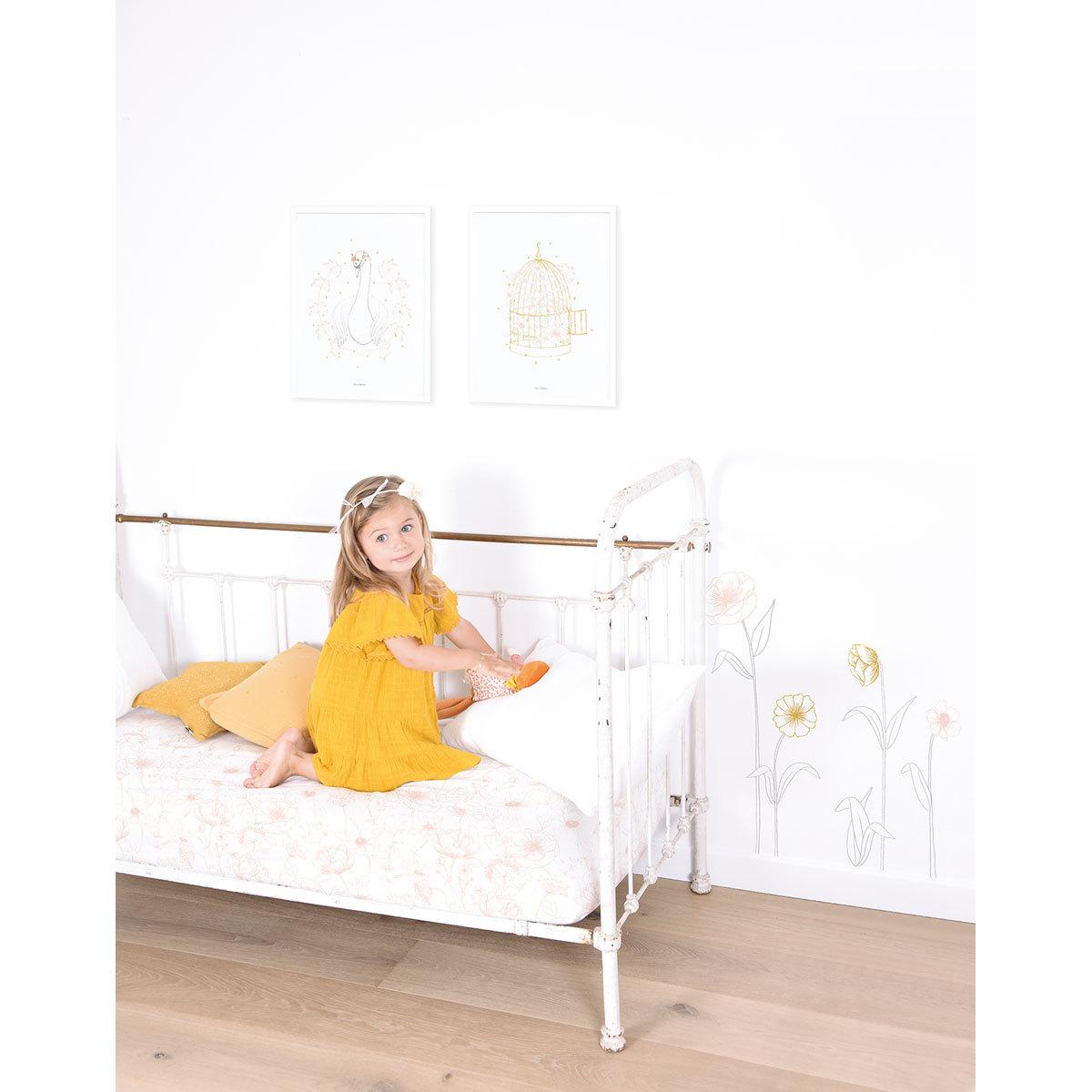 lilipinso botany affiche cage fleurie affiche poster With affiche chambre bébé avec etole fleurie