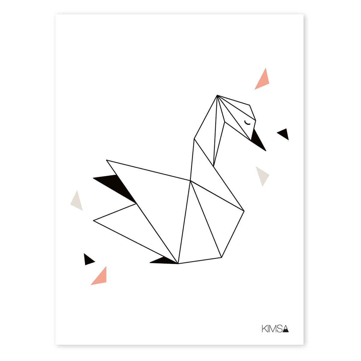 Affiche & poster Origami Play - Affiche Géométrique Cygne Origami Play - Affiche Géométrique Cygne