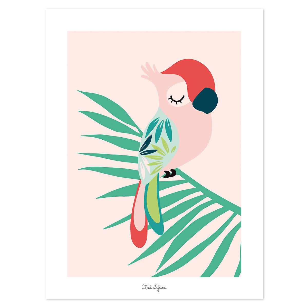 Affiche & poster Tropica - Affiche Perroquet Rose