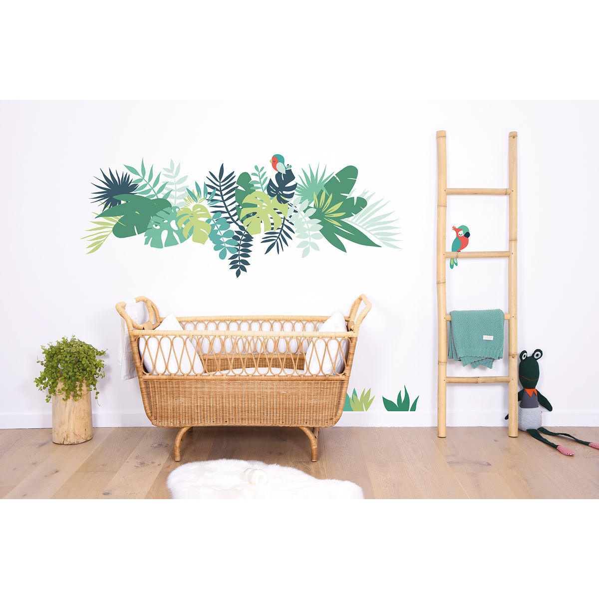 Lilipinso tropica stickers xl feuilles tropicales for Stickers pour armoire