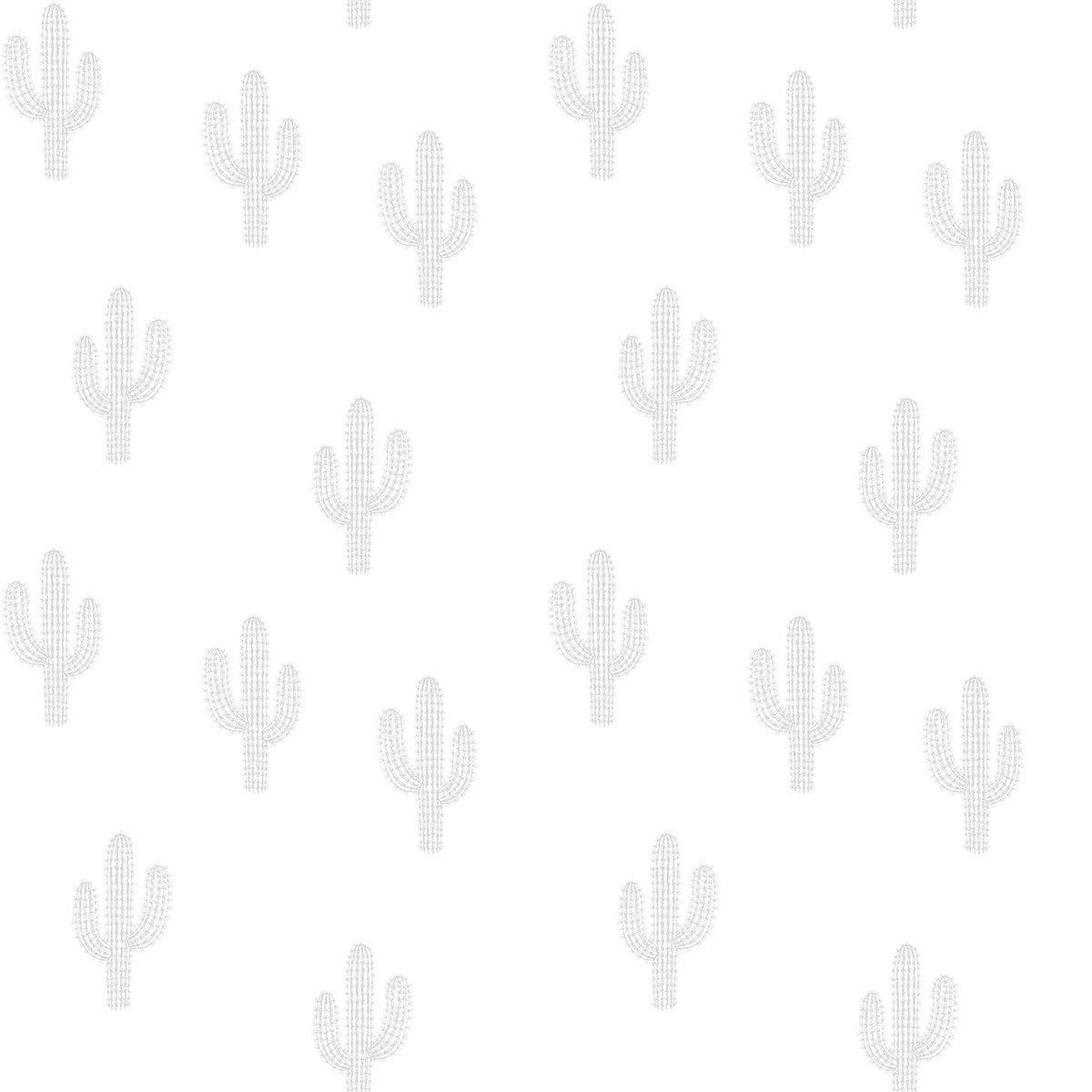 Papier peint Wild West - Papier Peint - Motif Cactus Gris Wild West - Papier Peint - Motif Cactus Gris