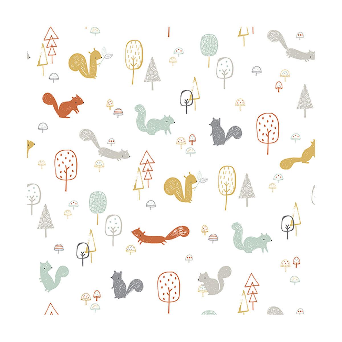 Papier peint Woodland - Papier Peint - La Forêt aux Ecureuils Woodland - Papier Peint - La Forêt aux Ecureuils