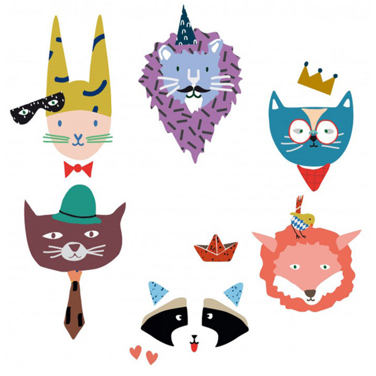 Sticker Sticker Animal party Sticker Animal party