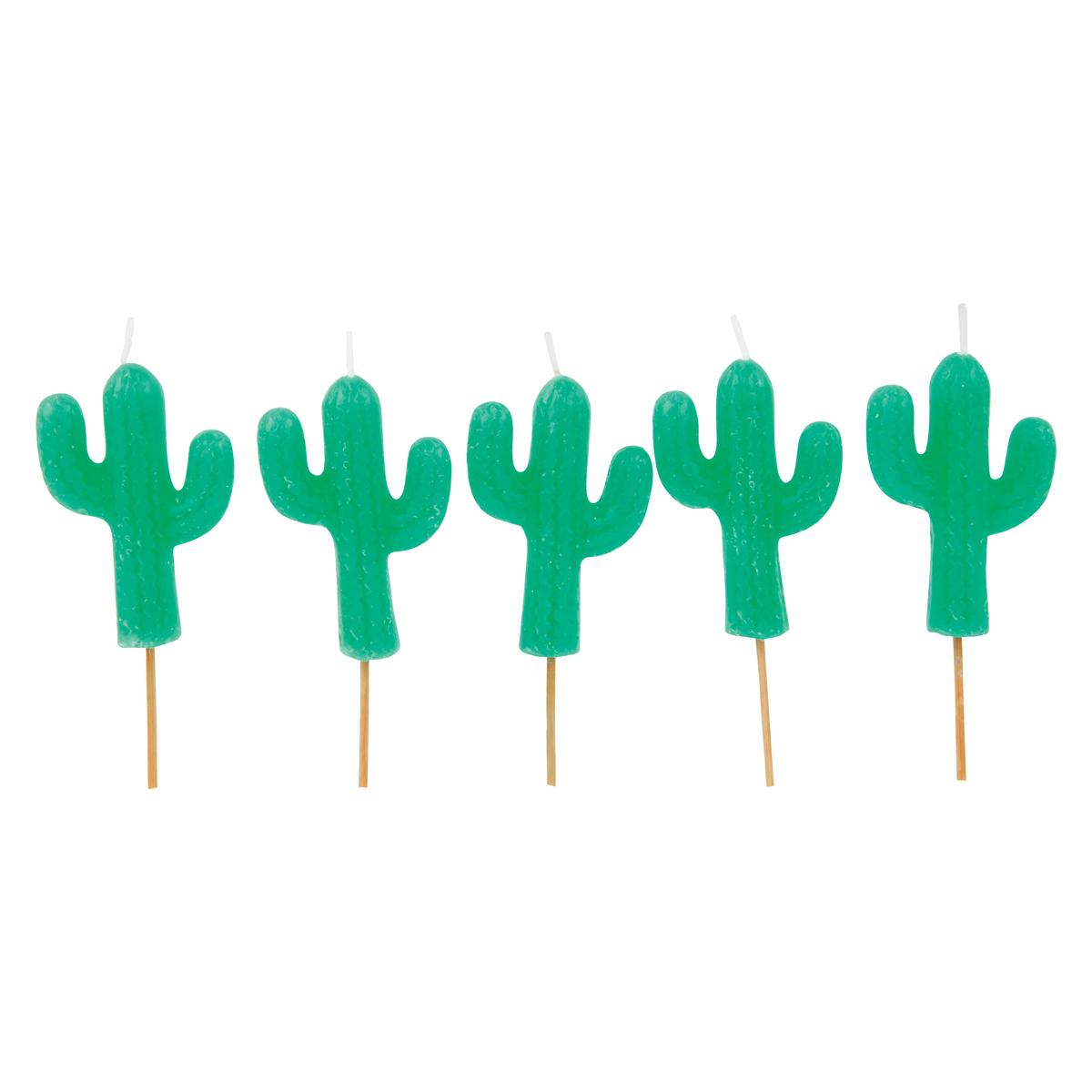 Anniversaire & Fête Lot de 5 bougies cactus Lot de 5 bougies cactus