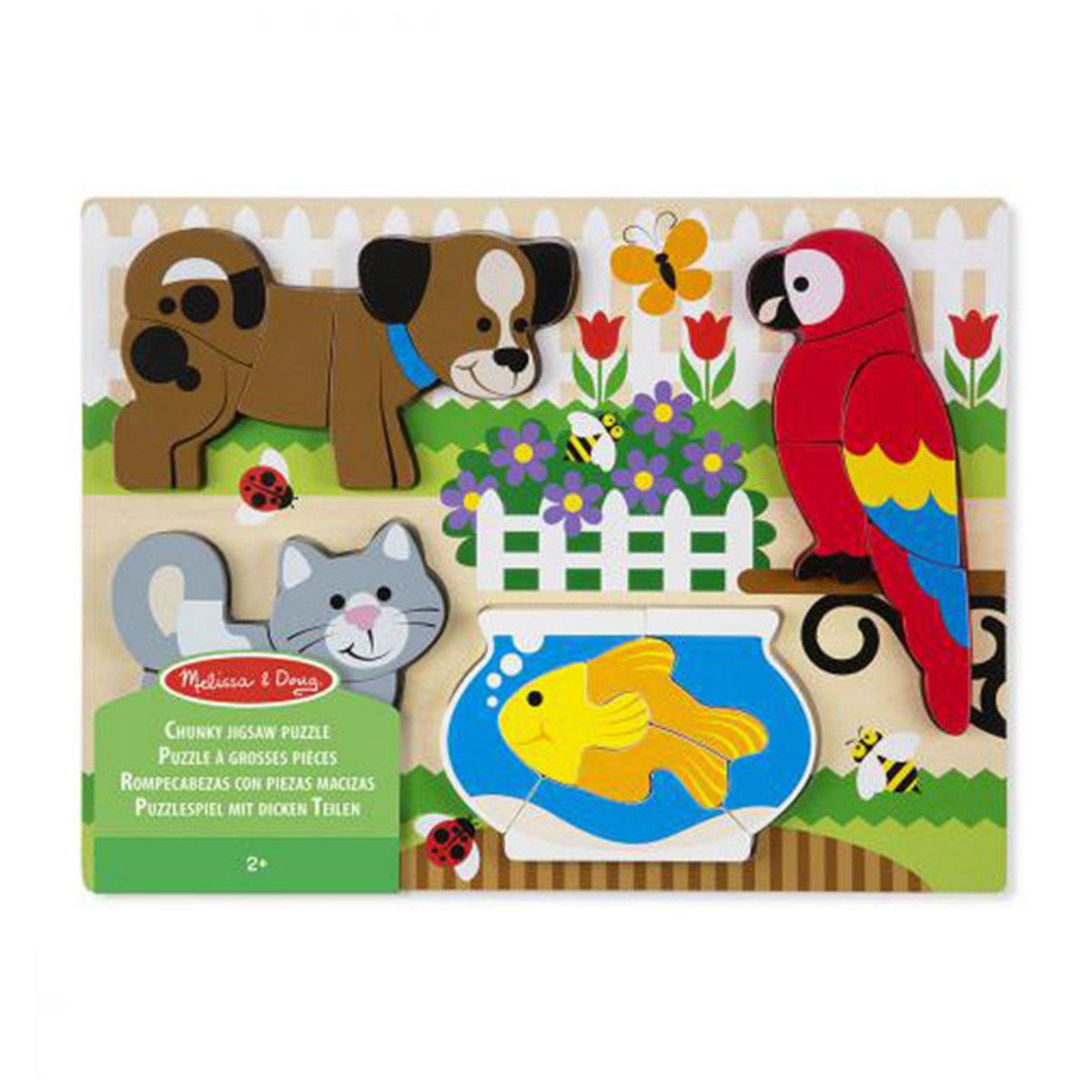 Mes premiers jouets Puzzle Grosses Pièces - Animaux Domestiques Puzzle Grosses Pièces - Animaux Domestiques