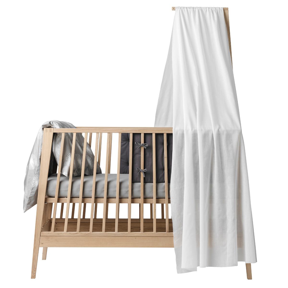 linea linge de lit Leander Voile de lit bébé Linea   Blanc   Linge de lit Leander sur  linea linge de lit