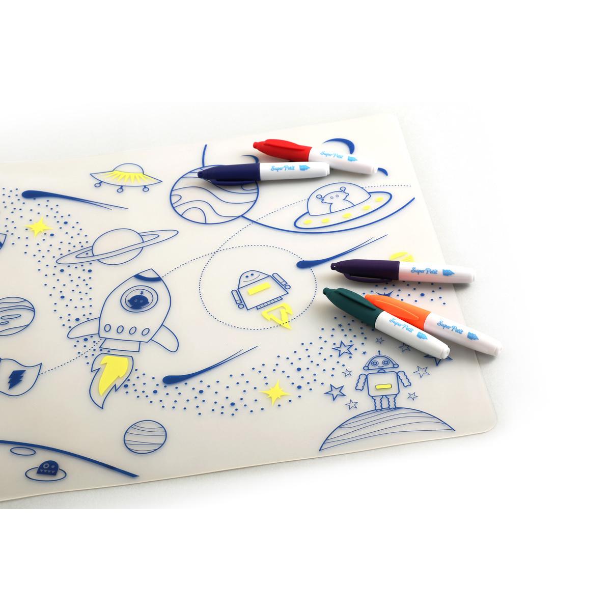 Vaisselle & Couvert Set de Table à Colorier et ses 5 feutres - Dans l'espace Set de Table à Colorier et ses 5 feutres - Dans l'espace