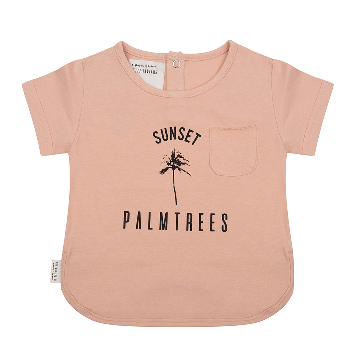 Hauts bébé T-shirt Palmier Corail - 9/12 Mois