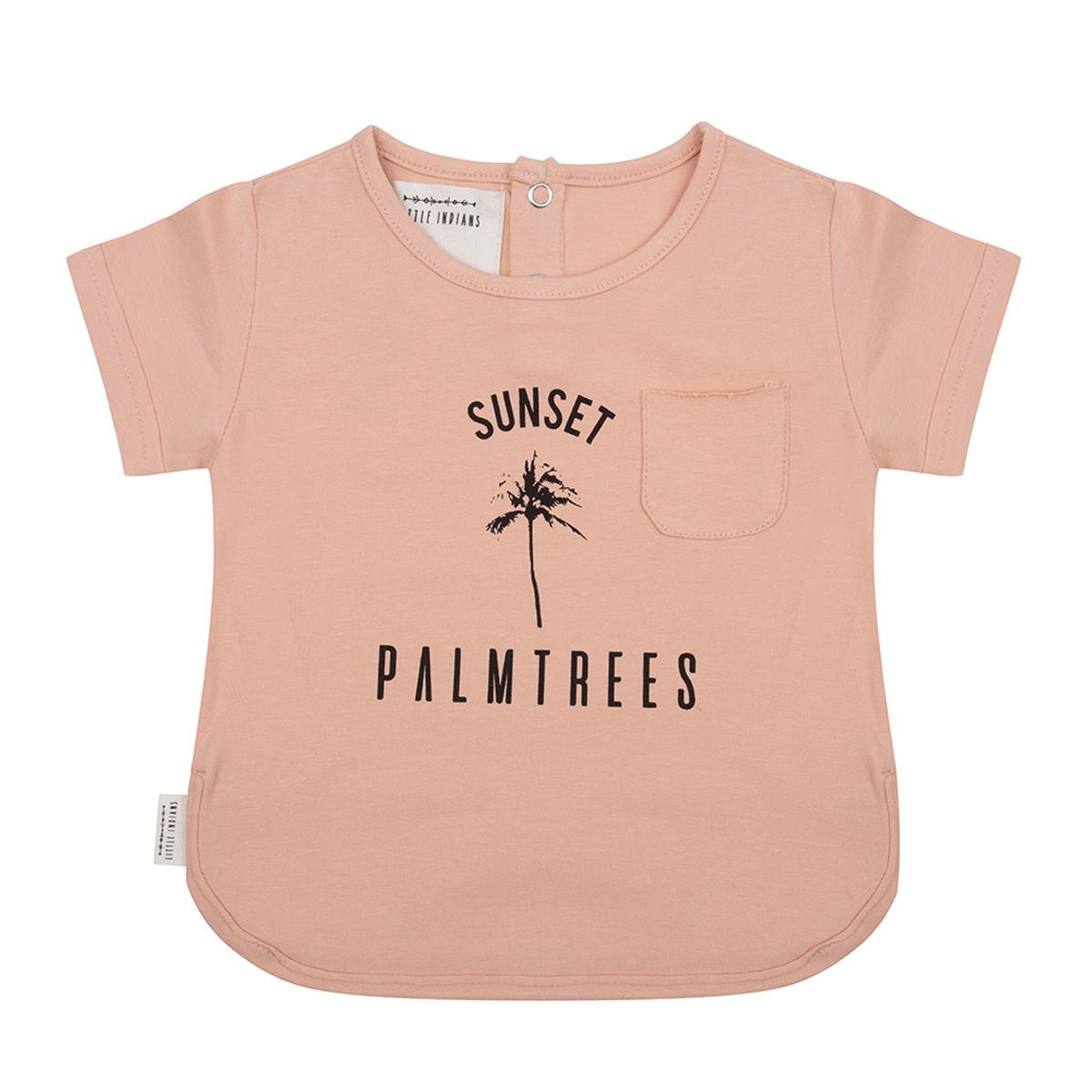 Hauts bébé T-shirt Palmier Corail - 3/4 Ans