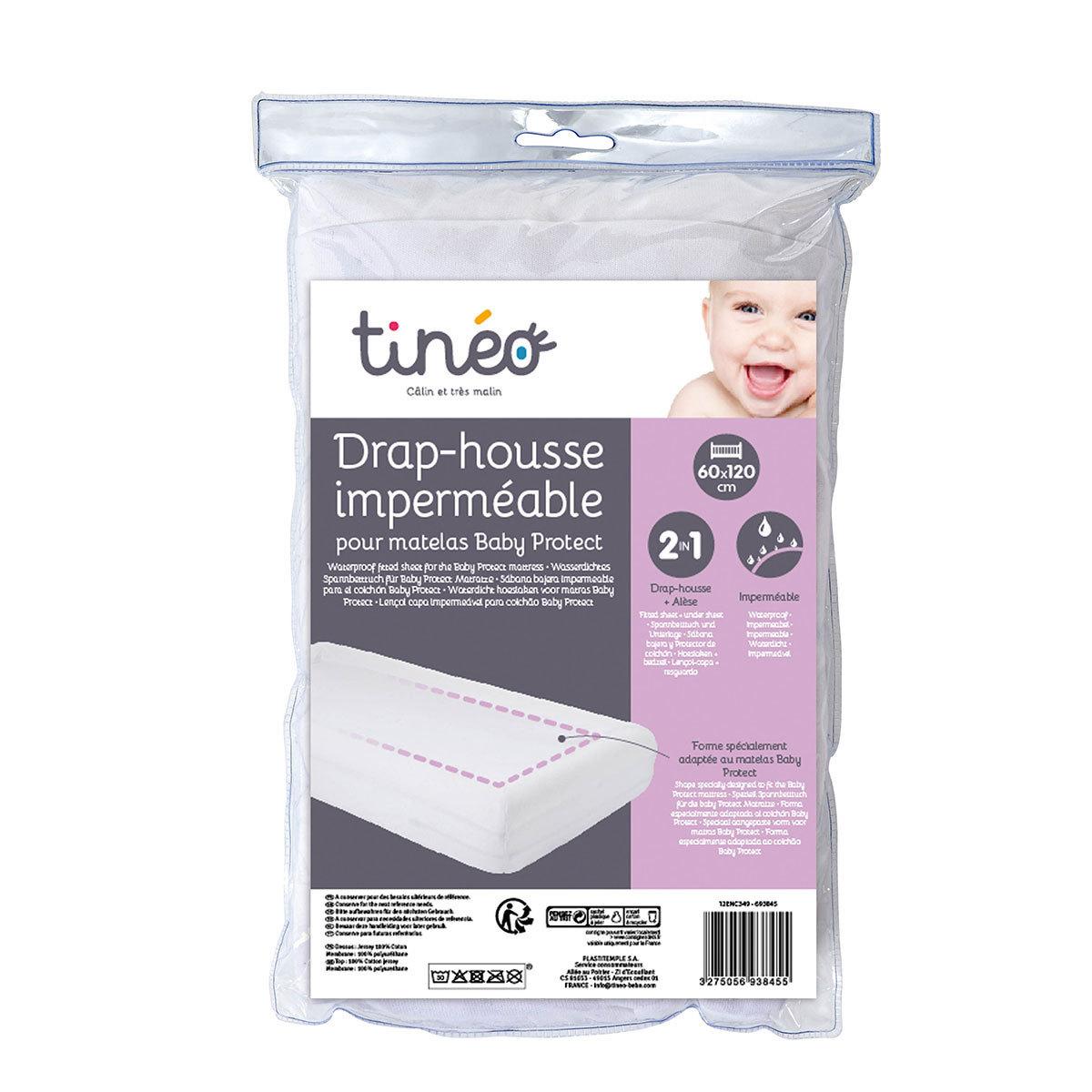 Linge de lit Drap Housse Imperméable Baby Protect Blanc - 60 x 120 cm Drap Housse Imperméable Baby Protect Blanc - 60 x 120 cm