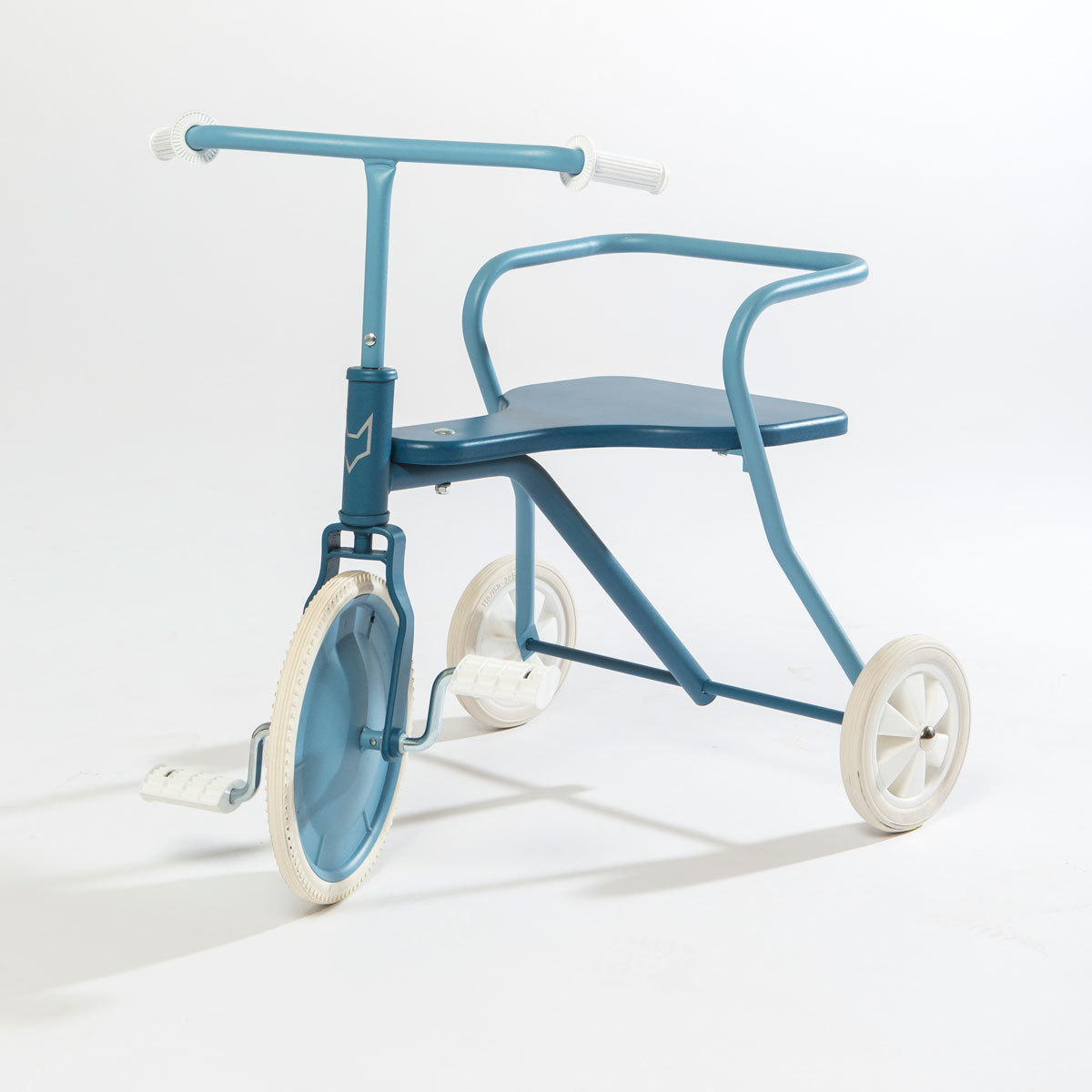 fox rider tricycle en m tal bleu vintage trotteur. Black Bedroom Furniture Sets. Home Design Ideas
