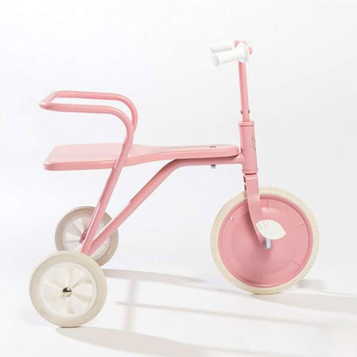 fox rider tricycle en m tal rose vintage trotteur. Black Bedroom Furniture Sets. Home Design Ideas