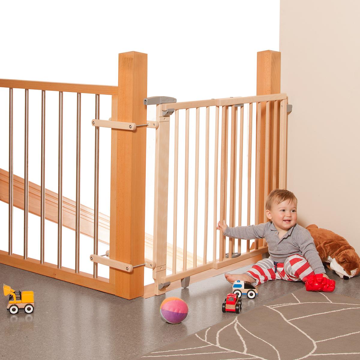 geuther barrière de sécurité pour escalier  bois
