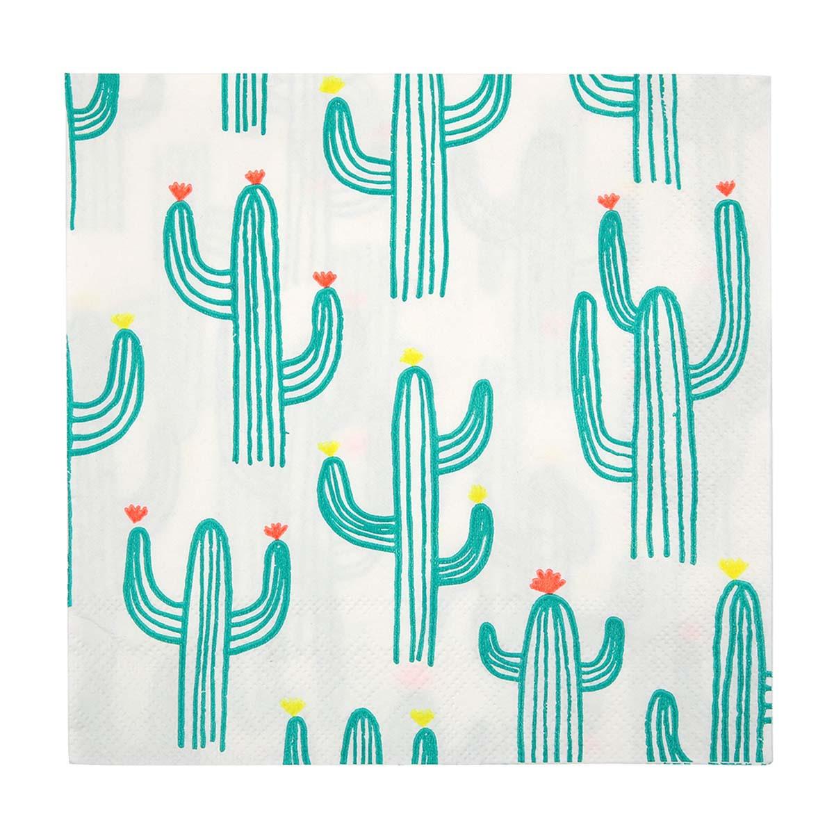 Anniversaire & Fête Grandes Serviettes de Table Cactus Grandes Serviettes de Table Cactus